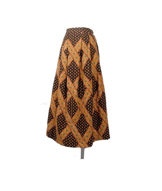 vintage 70s skirt 70s maxi skirt charles demery soleiado