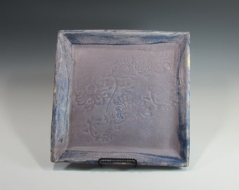Serving Platter, Plate, Square Dish, Tray, Ceramic Pottery