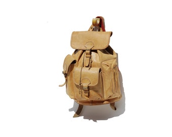Vintage BREE All Spice Tan Leather Backpack
