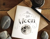 "Printable ""Over the Moon"" Note & Postcard Set - Digital"