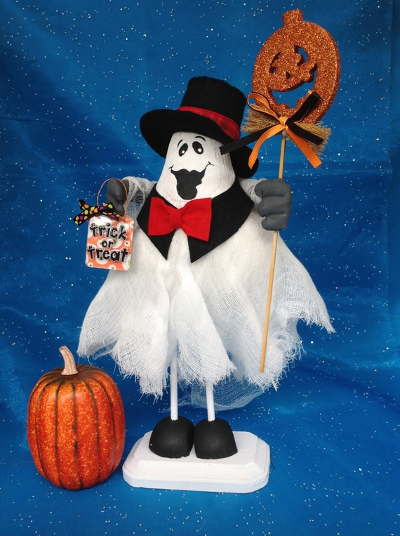 Cloth Doll E-Pattern Formal Top Hat & Tie Halloween Ghost