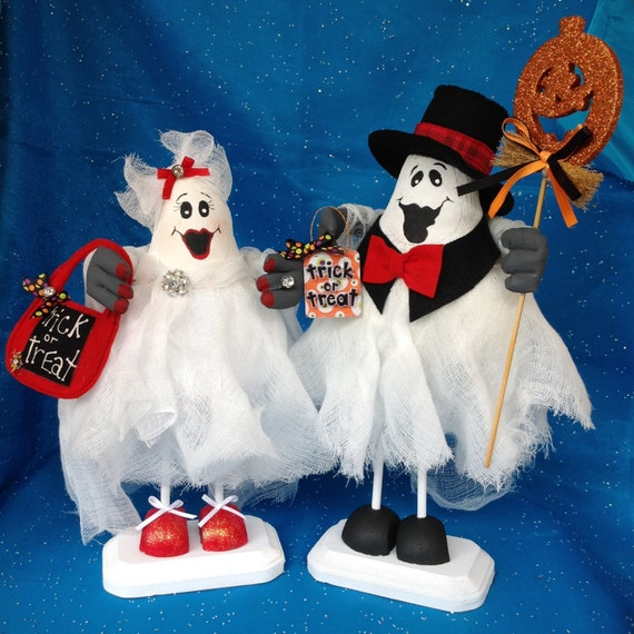 Cloth Doll E-Pattern Special Wonderful Halloween Ghost Couple