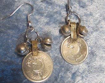 Antique coin earrings