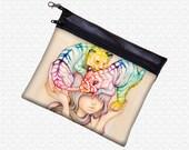 Eenie Meenie Miny & Mo pouch Camilla d'Errico wristlet, travel bag, art supply pouch, wristlet, makeup pouch, pop art, lowbrow bag