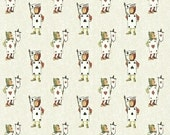 Alice Adventures in Wonderland cotton quilting fabric Mini Card Army  W30853-6 White, half yard