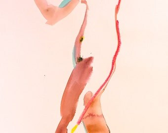 Nude painting of One minute pose 86.1 Original nude painting by Gretchen Kelly