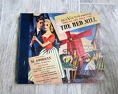 Vintage RCA Records, RCA Victor Presents 'Two on the Aisle' for The Red Mill, 1945, 4 45 Records, 8 Songs from the Operetta, 1940s Album Art
