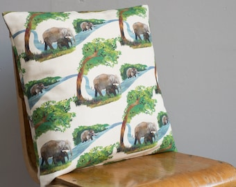Elephant River Cushion / Pillow