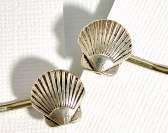 Sea Shell Bobby Pin, Single Bobby, Shell Hair Accessory