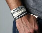 Wrap Bracelet, Mens Bracelet, White Bracelet, Birthday Gift, Gift For Her, Tribal, Boho, Gift, Mens, Women, Valentines Gift, Gift for Women