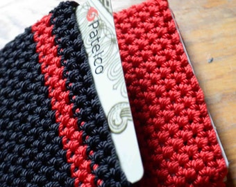 Go Go Easy Slip Credit Card, Money Wallet  For those with Active Lifestyle.  Crochet with Durable Nylon