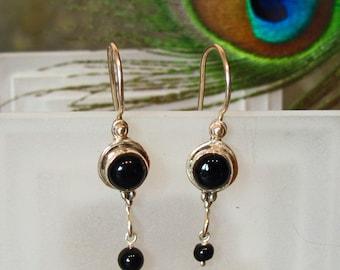 Earrings: Black Onyx Dangle Earrings