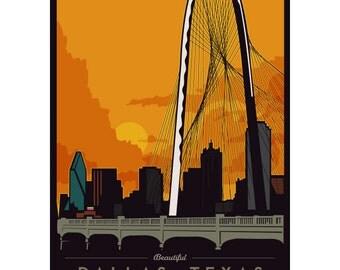 Dallas Bridge Framed Art Print