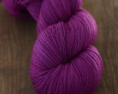 "Hand-dyed Yarn, ""Ultra Hottie,"" Superwash Merino Nylon Sock Yarn, Electric Purple Fingering Weight Handdyed Yarn (K)"