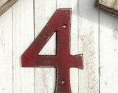 Large Metal House Numbers, Iron Decor, Cast Iron Numbers, Anthropologie Decor, Modern Style House Numbers, Wedding Numbers