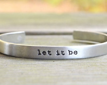 Let It Be Bracelet . The Beatles Jewelry . Zen Jewelry . Under 20 . Inspirational Bracelet . Infinity Symbol.