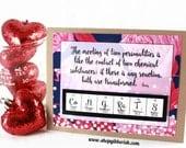 Science Wedding Card - Chemistry Couple Gift Idea