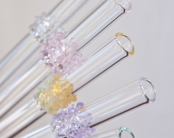 Glass Cluster Drinking Straws