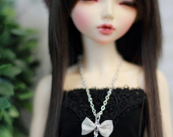 Bow and Heart Necklace for MSD BJD, Minifee, Unoa Dolls
