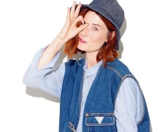 90s DENIM BUCKET HAT 90s clothing 90s grunge