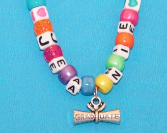 Kids Party Favor Graduation Diploma Personalized Necklace - Make your own Child Necklace, Preschool Graduation, Jewelry Kit, Create your own
