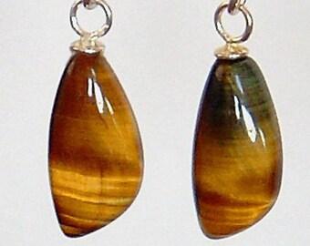 Unusual Cut - Tigereye Dangle Earrings AAA Grade