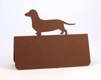 Dog Dachshund Place Cards Set of 100 Wedding, Choose dog, custom