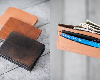 "Handmade Leather Bi-fold Wallet // ""bi-fold"" by fullgive."