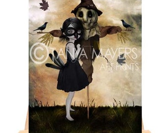 Unrequited Love - Aceo Art Print - Girl & Scarecrow
