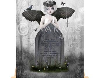 Angel Aceo Card - Gothic Angel - Fallen Angel