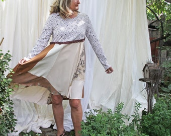 upcycled clothing . L - XL . dress . southbound train