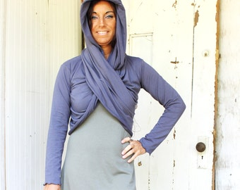 Nomad Wrap - Organic Clothing - Made to Order - Choose Your Color - Eco Fashion