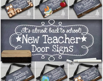Teacher Chalkboard Classroom - You Choose the Design - DOOR SIGN Teacher End of Year Christmas Present Gift