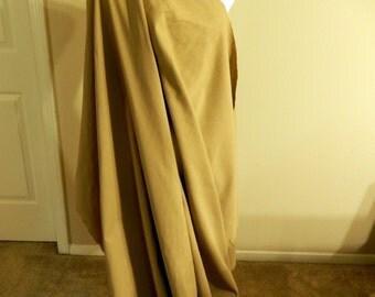 Khaki bottomweight fabric