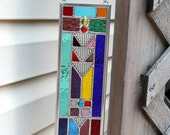 Geometric Multicolored Stained Glass Suncatcher