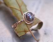 Diamond engagement ring in 14k rose gold, 1.65 carat cushion cut diamond
