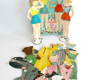 Vintage Teen Time Paper Dolls Whitman Mid Century