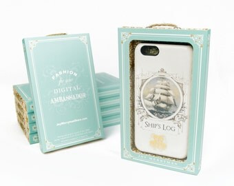 Vintage Nautical iPhone Case - Ship's Log iPhone Case, Galaxy S6 Edge, iPhone 5S,  Case iPhone 6 Plus Case