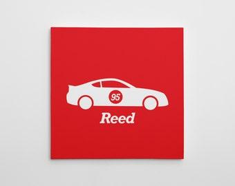 Race Car Canvas Print, Nursery Car Canvas Art, Race Car Nursery Decor, Nursery Art Print, Race Car Wall Art, Car Canvas, Car Wall Art, Racer