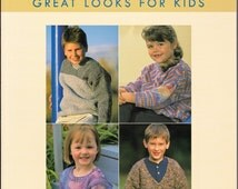 Clever Knits Great Looks For Kids Knitting Craft Book by Kristine Clever Childs Boys Girls Doll Sweaters Hooded Jacket Knit Sweater Gift DIY