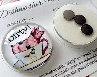 Dishwasher Magnets - Set of 2, Dirty and Clean