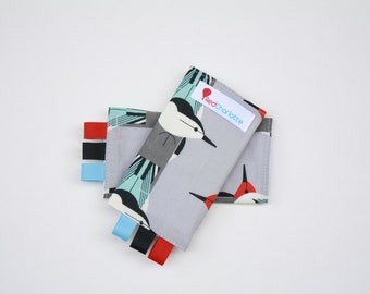 ORGANIC Sucking Pads - Charley Harper for Birch-these fit Ergo, Tula, Mei Tai, Beco, Boba, BabyHawk and more