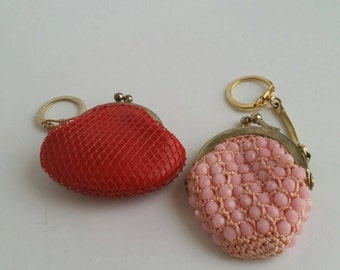 PICK a Small Vintage Change Purse Yield Flowers Vintage 60s 70s 80s