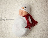 Newborn Snowman Hat, Newborn Christmas Hat, Newborn Christmas Outfit, Newborn Christmas Photo Prop, Newborn Photo Prop Christmas Newborn Boy