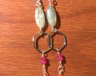 Gemstone dangle earrings
