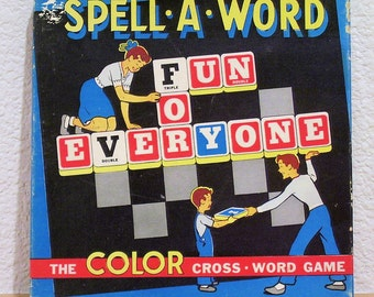 SPELL-A-WORD Cross Word Game By Gardner's Games, Chicago, Vintage1950s