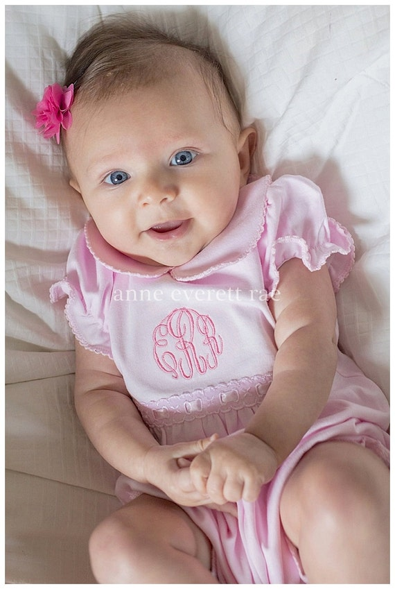 Pink Summer Coming Home Outfit Emily Summer Romper Baby Shower