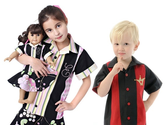 Boy's and Girl's Retro Bowling Shirt, Sewing Pattern PDF E-Book by the Scientific Seamstress
