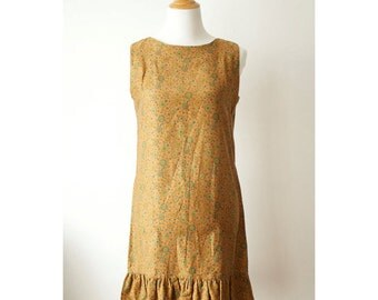 vintage 60s cotton shift dress size x-small
