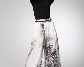 Maxi chiffon pants long women pants (1301)